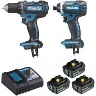 Lot MAKITA : perceuse-visseuse à chocs -18 V Li-ion - 5 Ah