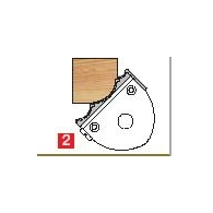 Jeu de tête 1/4 de rond - ELBE PG040020 - ht 50 mm - r 5, 10 et 15 mm