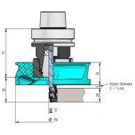 Ecrou déflecteur - ELBE TWISTER - pour mandrin HSK63F ER40