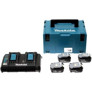 Pack batteries - MAKITA 197626-8 - 4 x BL1850B - 18 V Li-ion - 5,0 Ah