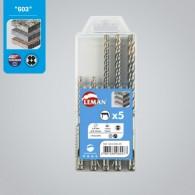Coffret 5 forets SDS - LEMAN 603.500.05 - Ø 5 à 10mm - pour matériaux