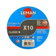 Boite 10 disques à tronçonner - LEMAN 1251610BM - Ø 125x1,6x22 mm