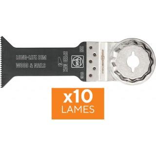 Lot 10 lames - FEIN 203 - Bi-métal - Starlock Max - 78 x 42 mm