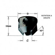 Fraisoir - CMT 31606011 - Ø 16 mm - al 6 mm - HM droite