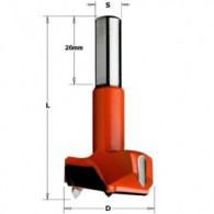 Mèche à façonner - CMT 31725012 - Ø 25 x L 57 mm - Q10 - HM gauche
