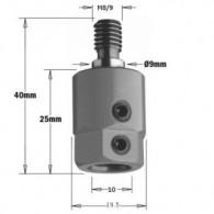 Mandrin de perçage - CMT 35800001 - Ø 10 mm - M8 - droite