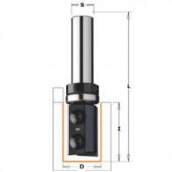 Mèche à affleurer à plaquettes - CMT 65669211 - Ø 19 x I 48 x L 100 mm - Q12