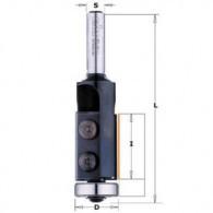 Mèche à affleurer à plaquettes - CMT 65719111 - Ø 19 x I 30 x L 74 mm - Q8