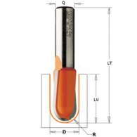 Mèche à gorge - CMT 71412711 - r 6,35 mm - Ø 12,7 x l 9,5 x L 50,8 mm - Q6