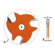 Fraise à rainer - CMT 82232011 - Ø 47,6 mm - ép 2,0 mm - alésage 8 mm