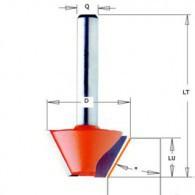 Mèche à chanfrein - CMT 90324011 - 15° - Ø 24 x I 14 x L 46 mm - Q8