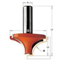 Mèche 1/4 de rond - CMT 92704011 - r 4 mm - Ø 19 x l 12 x L 43,8 mm - Q8