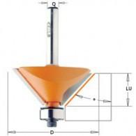 Mèche à chanfrein - CMT93628011 - 45° - Ø 31,7 x l 9,5 x L 53 mm - Q8