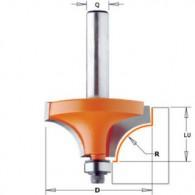 Mèche 1/4 de rond - CMT 93925411 - r 6,35 mm - Ø 25,4 x l 12,7 mm - Q8