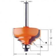 Fraise à moulure - CMT 94535011 - r 6,4-4,8 mm - Ø 35 x l 18,5 mm - Q8