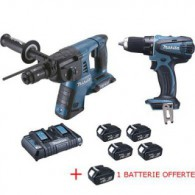 Lot promotion MAKITA : Perforateur burineur et perceuse visseuse 18V