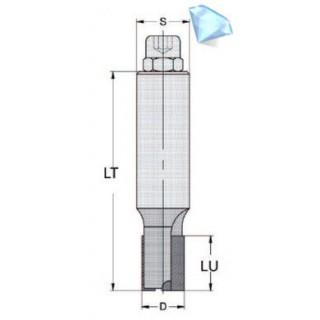 Mèche à défoncer - ELBE DIA10268010 - Ø 10 x l 26 x L 80 mm - Z2 - Q10