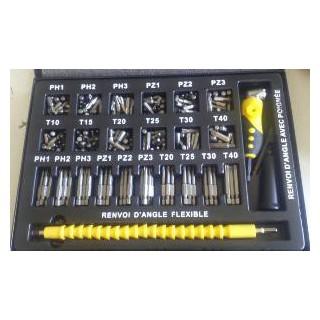 Coffret 342 embouts de vissage - ELBE C342V9550 - boite métallique