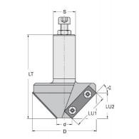 Porte-outils - ELBE ME246300 - chanfrein 45° - Ø 74 mm - Q20