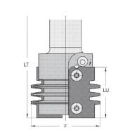 Porte-outils - ELBE PA020400 - bouvetage - Ø 55 x Q25 mm