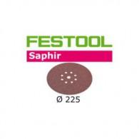 Disque abrasif - FESTOOL 495175 - Ø 225 mm - grain 36 - 25 pièces