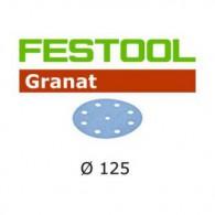 Disque abrasis - FESTOOL 497167 - Ø 125 mm - grain 80 - Bte 50