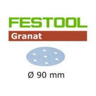 Disque abrasif - FESTOOL 497370 - Ø 90 mm - grain 220 - Bte 100