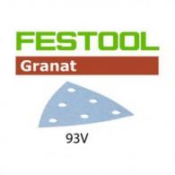 Abrasif - FESTOOL 497393 - delta 93x93 mm - grain 100 - Bte 100
