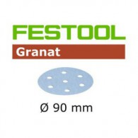 Disque abrasif - FESTOOL 498326 - Ø 90 mm - grain 500 - Bte 100