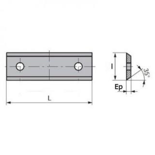 Plaquette carbure - LEMAN 0030.1215.00 - 30x12x1,5 mm - K5