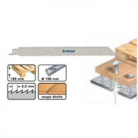 Lame de scie sabre - LEMAN 7705.05 - 210 x pas 2,5 mm - 5 lames