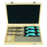 Coffret 3 ciseaux à bois - LEMAN 780.500.03 - 15,20 et 25 mm - pierre à affuter