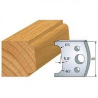 Couteau - LEMAN 800.002 - 1/4 de rond - la paire