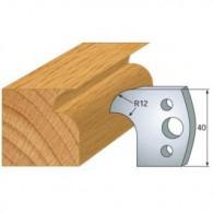 Couteau - LEMAN 800.005 - congé 1/4 de rond - la paire