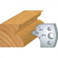 Couteau - LEMAN 800.011 - talon et 1/4 de rond - la paire
