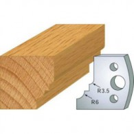 Couteau - LEMAN 800.019 - 1/4 de rond talon - la paire