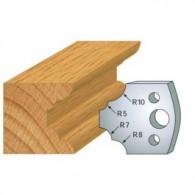 Couteau - LEMAN 800.022 - 1/4 de rond multiple - la paire