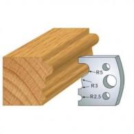 Couteau - LEMAN 800.033 - multi moulure - la paire