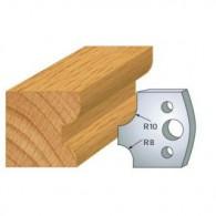 Couteau - LEMAN 800.040 - 1/4 de rond 8 et 10 mm - la paire