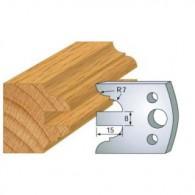 Couteau - LEMAN 800.098 - profil double - la paire