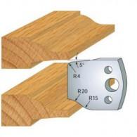 Couteau - LEMAN 800.100 - plate bande - la paire