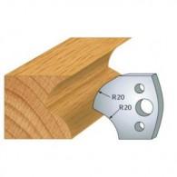 Couteau - LEMAN 800.120 - rayon de 20 mm - la paire