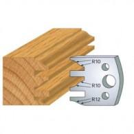 Couteau - LEMAN 800.124 - profil et contre-profil - la paire