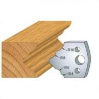 Couteau - LEMAN 800.125 - multi 1/4 de rond - la paire