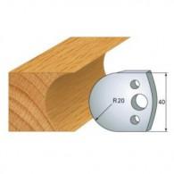 Couteau - LEMAN 800.131 - congé de 20 mm - la paire