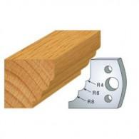 Couteau - LEMAN 800.132 - multi 1/4 de rond r 4-6-8 mm - la paire