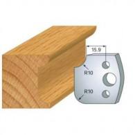 Couteau - LEMAN 800.175 - r 10 mm - la paire