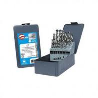 Coffret 19 forets métaux - LEMAN 802.000.19 - HSS - Ø 1 à 10 mm