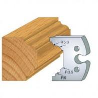 Couteau - LEMAN 855.204 - petit bois de fenêtre - la paire