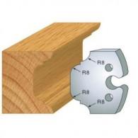 Couteau - LEMAN 855.214 - congé 1/4 de rond - la paire